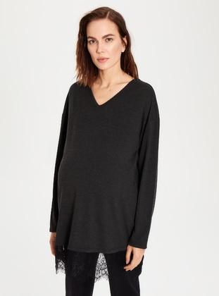 Anthracite - Maternity Tunic / T-Shirt