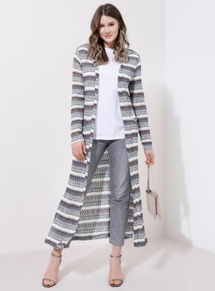Multi - Multi - Acrylic -  - Plus Size Cardigan - Alia