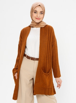 Cinnamon - Shawl Collar -  - Cardigan