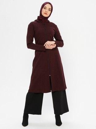 Maroon - Stripe - Unlined - Topcoat