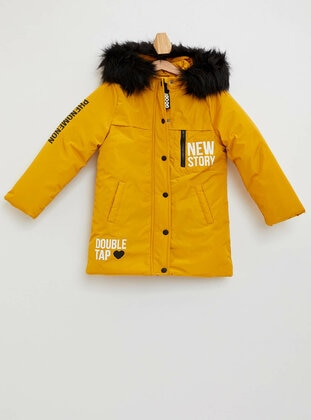 Yellow - Girls` Jacket - DeFacto