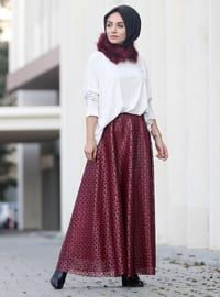 Maroon - Fully Lined - Skirt