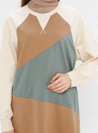 Green Almond - Shawl Collar -  - Tunic