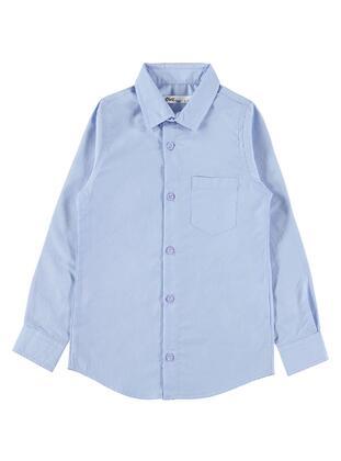 Blue - Boys` Shirt -  Boys