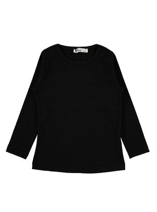Black - Girls` Sweatshirt -  Girls