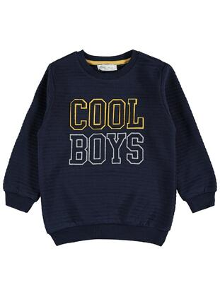 Navy Blue - Boys` Sweatshirt - cvl
