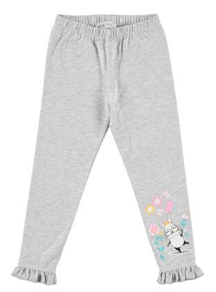 Gray - Girls` Leggings - cvl