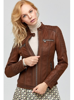 Brown - Puffer Jackets - Derimod