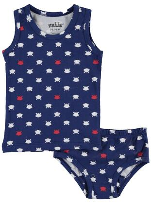 Navy Blue - Baby Underwear Set - Kujju