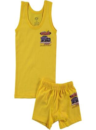 Yellow - Kids Underwear - Şahin