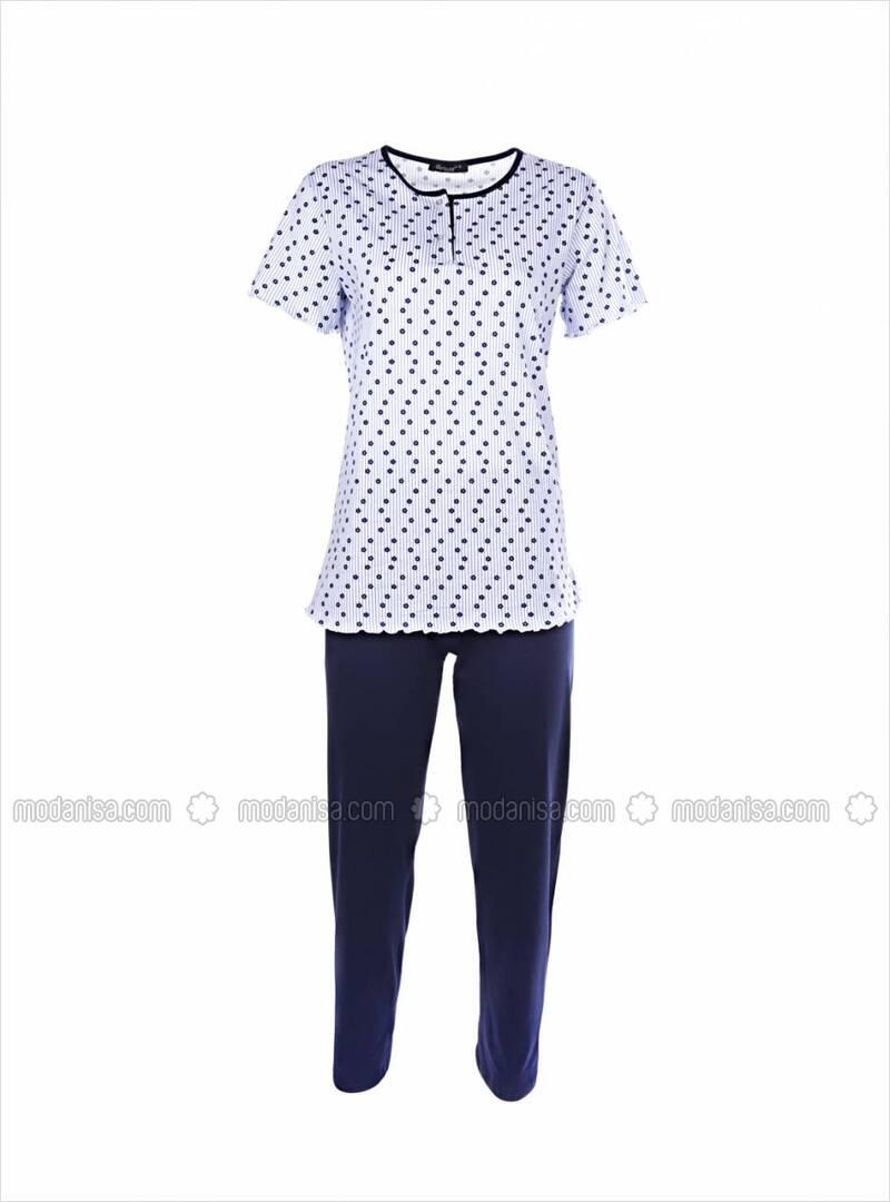 Sesto Senso Herren Schlafanzug Lang Baumwolle Pyjama Langarm Shirt mit Tasche Pyjamahose Zweiteilig Set Bunt Nachtw/äsche