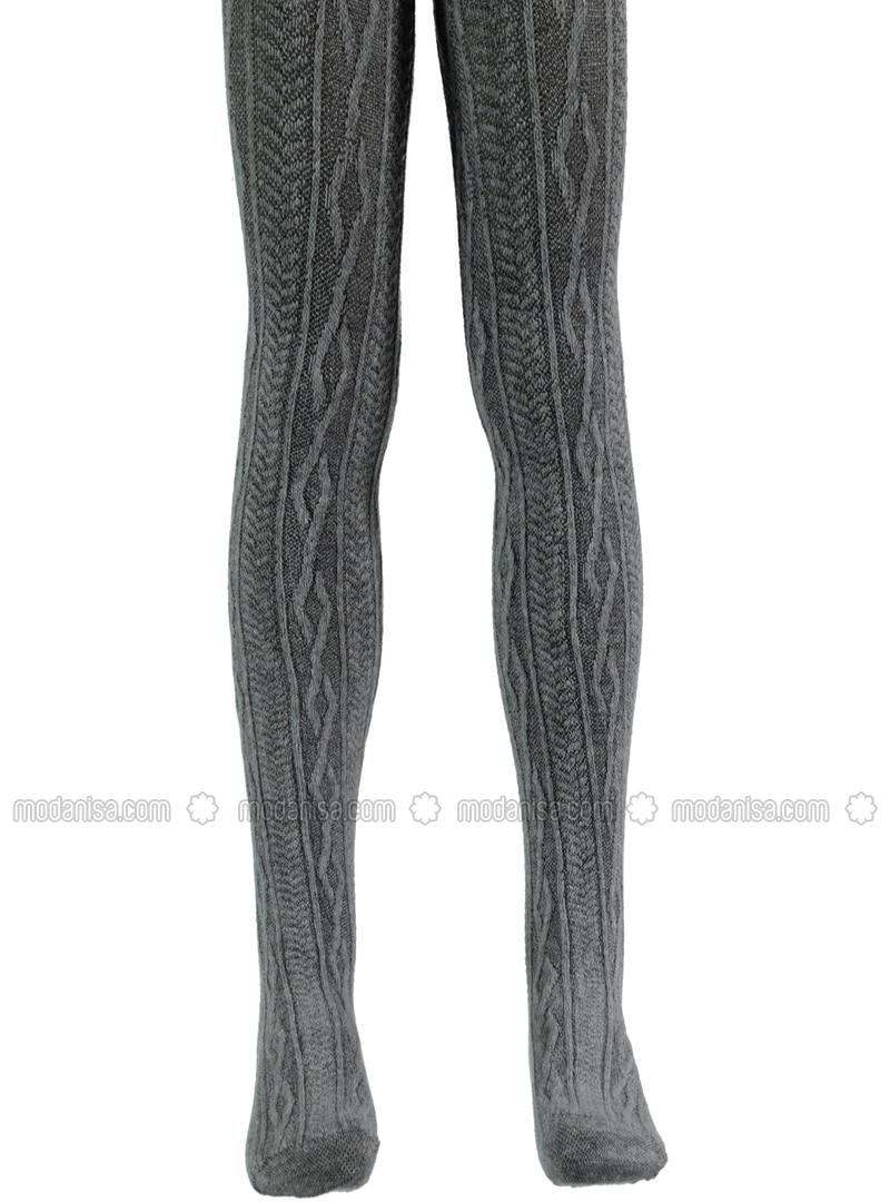 Gray - Girls` Socks - Bella Calze