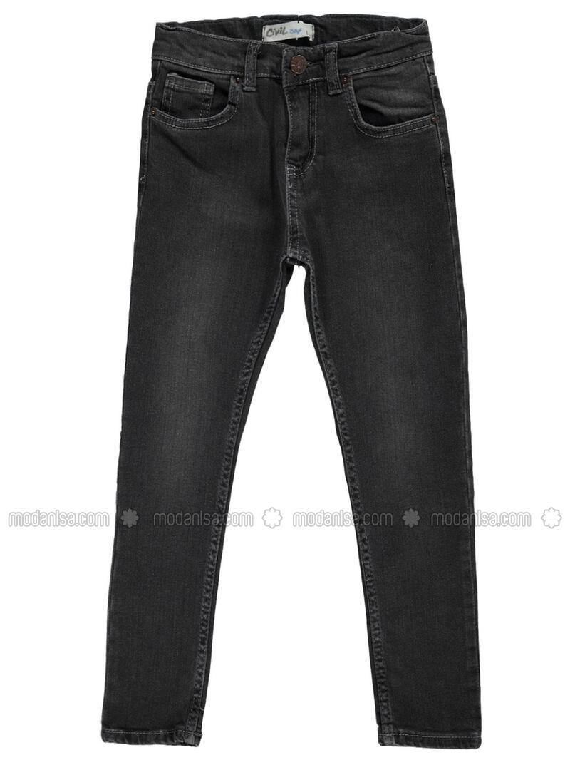 Black - Boys` Pants - Boys
