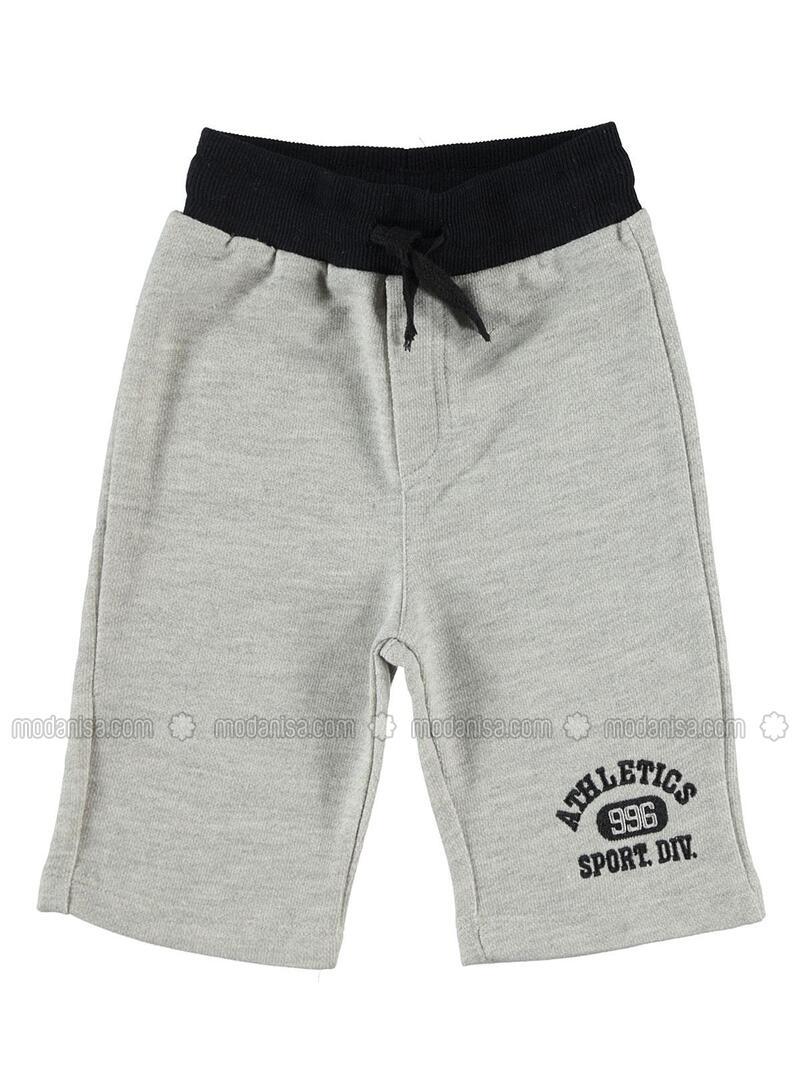 Gray - Boys` Shorts - cvl