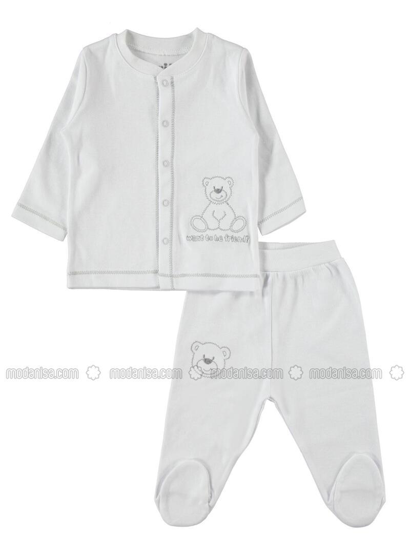 White - Baby Suit - Kujju