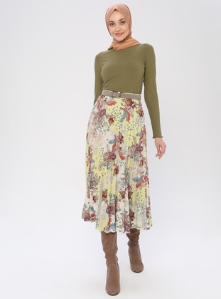 Yellow - Unlined - Skirt
