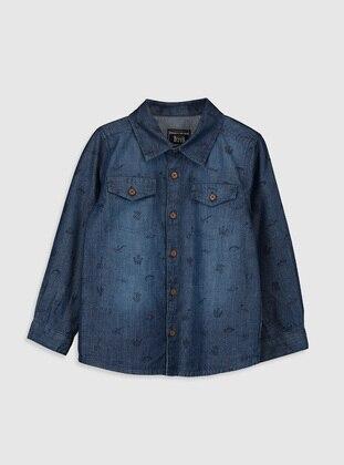 Printed - Indigo - baby shirts