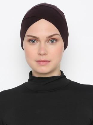 Brown - Plain - Bonnet