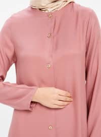 Dusty Rose - Crew neck - Viscose - Tunic