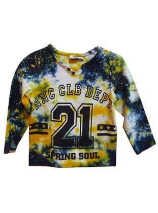 Crew neck -  - Unlined - Yellow - Boys` Sweatshirt