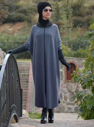 Anthracite - Acrylic - Wool Blend - Cardigan
