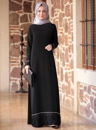 Black - Unlined - Crepe - Dress