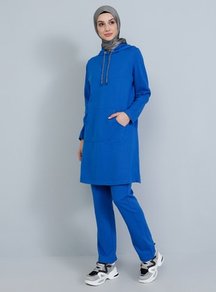 Blue - Saxe - Unlined -  - Suit