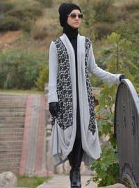 Gris - Acrylique - Mélange de laine - Abaya