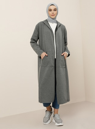 Anthracite - Unlined - Cotton - Topcoat