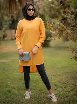 Yellow - Point Collar -  - Tunic