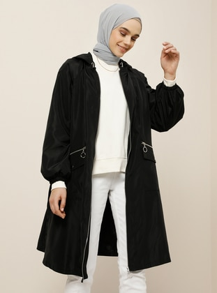 Black - Fully Lined - Trench Coat