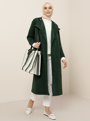 Green - Emerald - Unlined - Shawl Collar -  - Topcoat