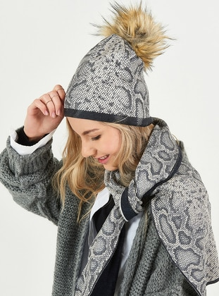 Gray - Hats - Soft Scarfs