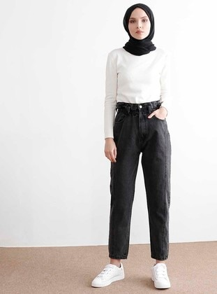 Anthracite - Denim -  - Pants