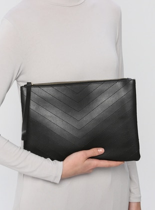 Black - Clutch - Clutch Bags / Handbags - Konsept