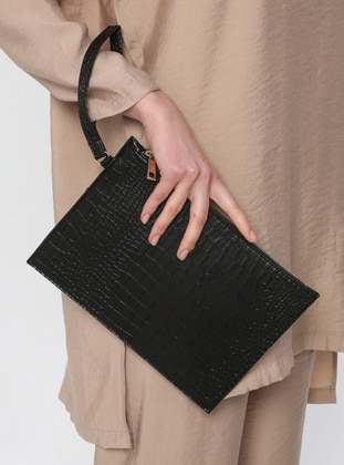 Black - Clutch - Clutch Bags / Handbags - Konsept