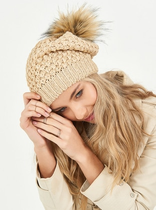 Beige - Hats - Soft Scarfs