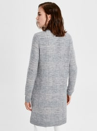 Printed - Gray - Cardigan