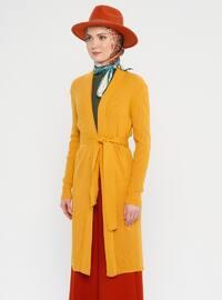 Mustard - Shawl Collar - Acrylic -  - Viscose - Cardigan