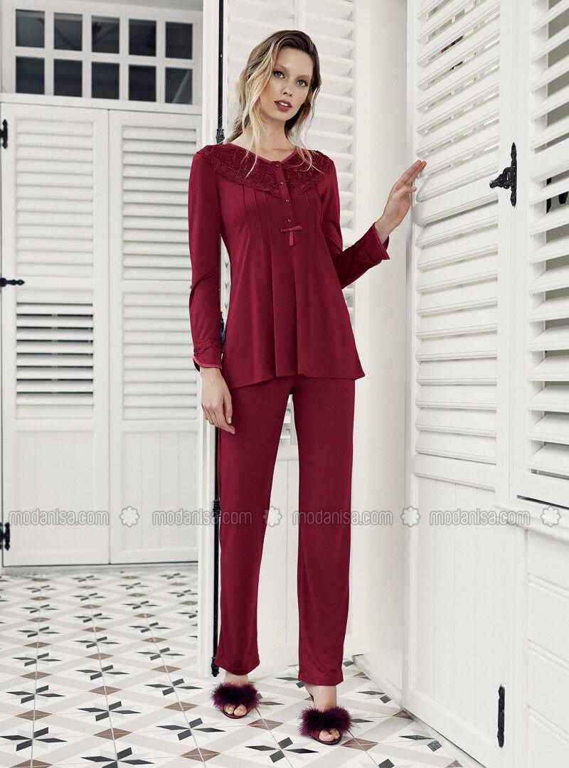 Maroon - Pyjama Set