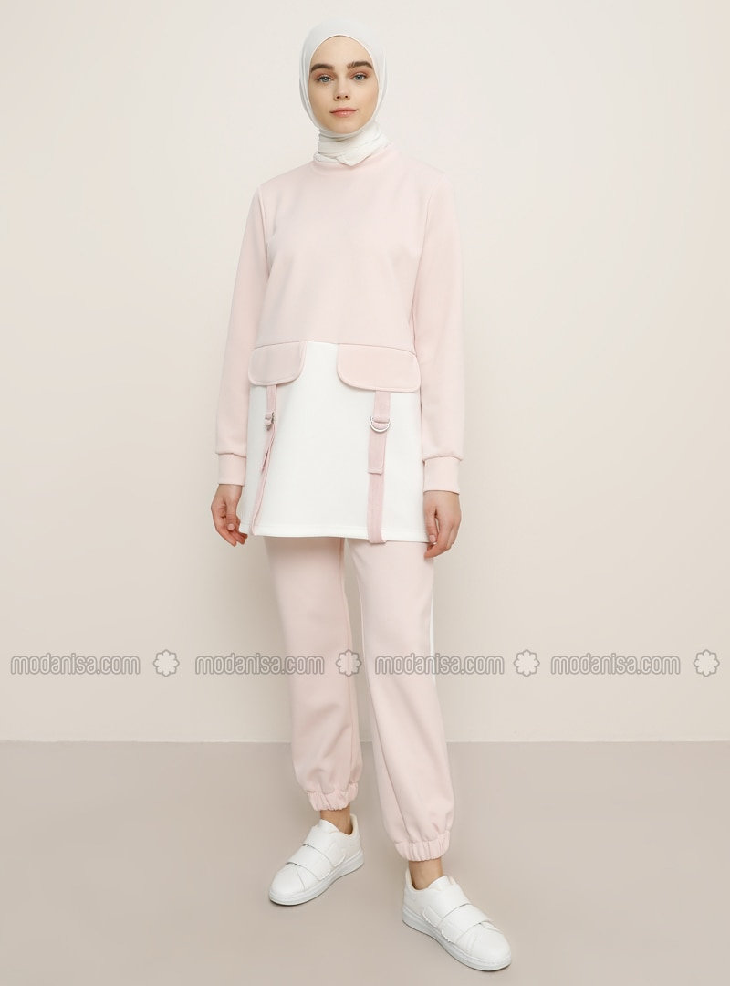 White - Powder - Tracksuit Set