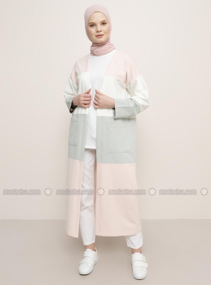 White - Powder - Green -  - Cardigan