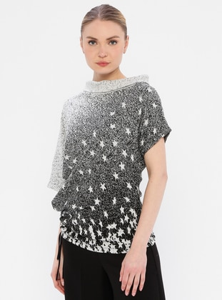 Multi - Multi - Polo neck - Viscose - Tunic