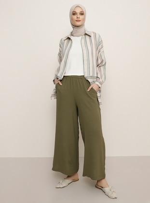 Khaki - Culottes