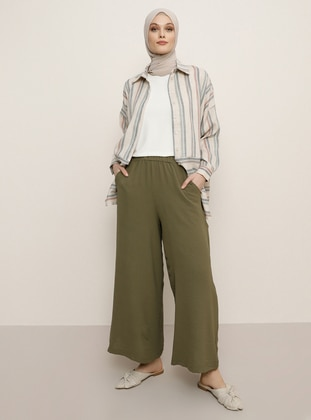 Khaki - Culottes - Refka