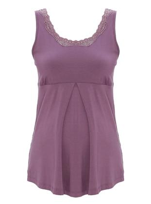 Modal - Purple - Maternity Singlet