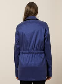 Saxe - Unlined - Point Collar - Plus Size Coat