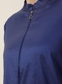 Saxe - Unlined - Crew neck - Plus Size Coat