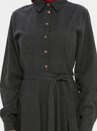 Anthracite - Point Collar - Unlined -  - Dress