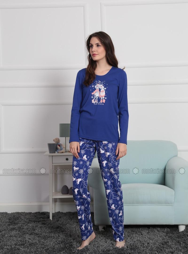 Saxe - Crew neck - Multi -  - Pyjama Set